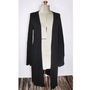 Old Navy Black Long Knit Cardigan Duster Large